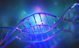 DNA-genoomonderzoek Helder neonlicht DNA-moleculestructuur royalty-vrije illustratie