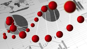 DNA, grafici e grafici illustrazione vettoriale