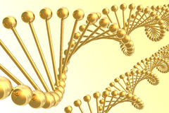 DNA helices. Stock Photography