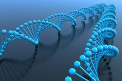 DNA helices Royalty Free Stock Images