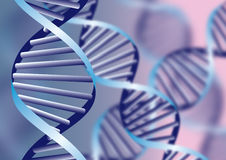 DNA helix. Biochemical abstract background with defocused strands, eps10 Royalty Free Stock Image