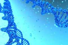DNA helix. DNA background with helix magnified - high quality render stock photo