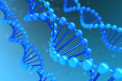 DNA helix. Three DNA helix magnified - high quality render Stock Photos