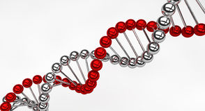 DNA Helix. A DNA Helix made by chrome spheres Royalty Free Stock Images