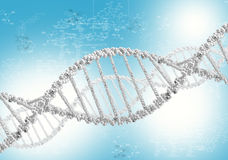 DNA helix against the colored background stock illustration