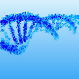 DNA helix blue  background Royalty Free Stock Photography