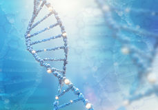 DNA helix on the colored background. 3D illustration Royalty Free Stock Photos