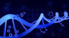DNA helix 3d Nauka, edukacja, genetyka ilustracja Fotografia Stock