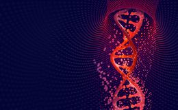 DNA helix. Hi Tech technology in the field of genetic engineering vector illustration