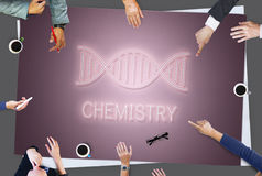 DNA Helix Life Science Graphic Concept royalty free stock image