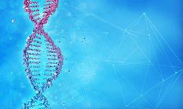 DNA double helix and molecular structure background Stock Photo