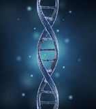 DNA helix molecules. Science concept 3D Royalty Free Stock Photos