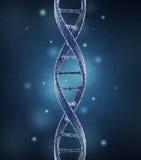 DNA helix molekuły. Nauki pojęcie 3D Zdjęcia Royalty Free