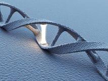 DNA helix molekuły. Nauki pojęcie 3D royalty ilustracja