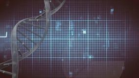 DNA helix wirować i bicie serca linia ilustracji