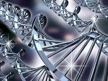 DNA helixes Stock Images