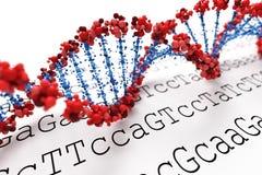 DNA-Hintergrund (Typ 05) lizenzfreie abbildung