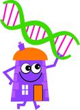 Dna house Stock Image