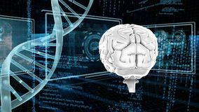 DNA i ludzki mózg ilustracji