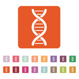 The dna icon. DNA symbol. Flat Stock Photography