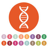 The dna icon. DNA symbol. Flat Stock Images