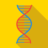 DNA icon, flat style Stock Image