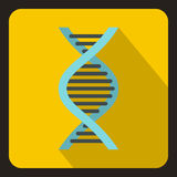 DNA icon, flat style Stock Photography