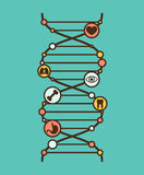 DNA Icon Stock Photography