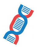 Dna icon vector. Dna vector symbol molecule biology science. Genetic life health dna icon design chromosome graphic molecule biology. Biotechnology button Stock Image