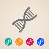 DNA icons Stock Photography