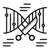 DNA-Ikone Vektor stock abbildung