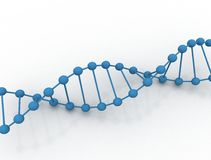 Dna illustration. DNA molecule on a white background Stock Photography