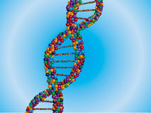 DNA. An illustration of DNA design Royalty Free Stock Photo