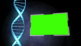 DNA image next to a screen stock video