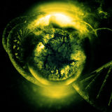 DNA infectada Foto de archivo libre de regalías
