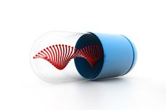 Dna inside the capsule Stock Images