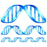 DNA isolated vector set Stock Photo