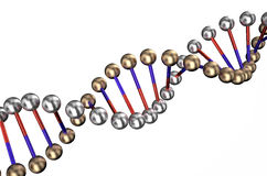 Dna 3. Dna isolated on white background Royalty Free Stock Photography