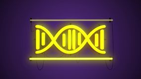 DNA ligera fluorescente, conceptos científicos y tecnología, fondo, estructura de la DNA, fluorescencia molecular, moléculas libre illustration