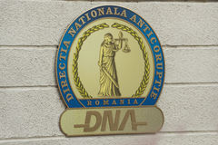 DNA logo. Bucharest, Romania - October 14, 2015: Image with the logo of National Anticorruption Directorate(DNA) – the Romanian agency tasked with stock photography
