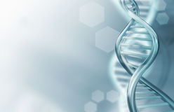 DNA loopt achtergrond vast royalty-vrije illustratie