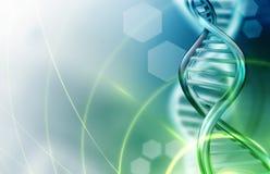 DNA loopt achtergrond vast stock illustratie