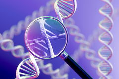 DNA Magnification Stock Photo