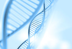 A dna in medical  background Stock Photography