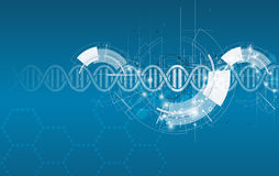 Dna and medical and technology background. futuristic molecule s Royalty Free Stock Photos