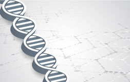 Dna and medical and technology background. futuristic molecule  Royalty Free Stock Photography