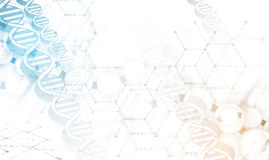 Dna and medical and technology background. futuristic molecule  Stock Photos