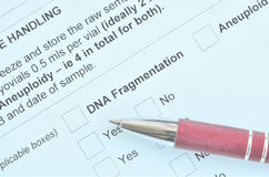 DNA medicine form Royalty Free Stock Images