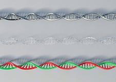 DNA Metall, Glas, Plastik Lizenzfreies Stockbild