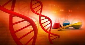 DNA mit Labor lizenzfreie abbildung